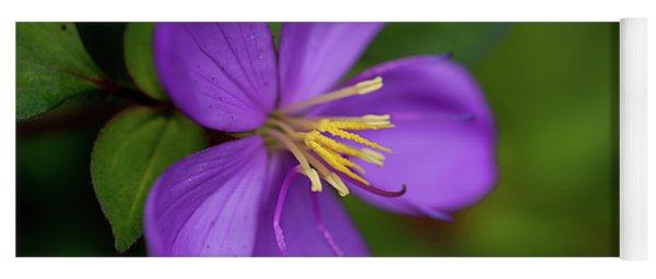 Purple Flower Macro Yoga Mat