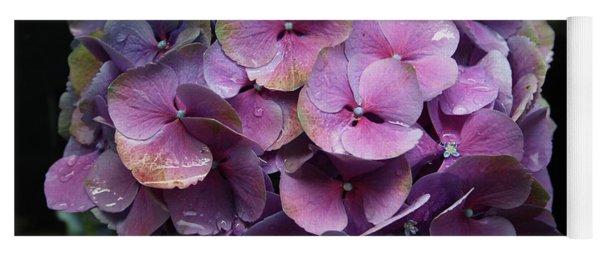 Purple Hydrangea- By Linda Woods Yoga Mat