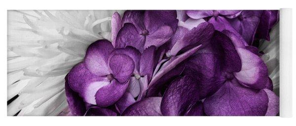 Purple In The White Yoga Mat