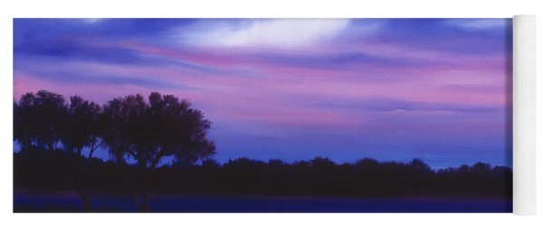 Purple Landscape Or Jean's Clearing Yoga Mat