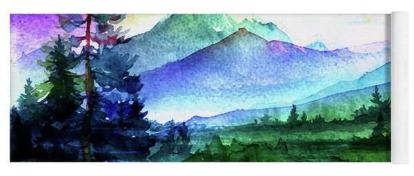 Purple Mountains Majesty Yoga Mat