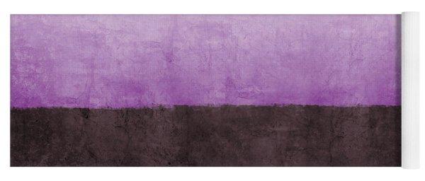 Purple On The Horizon- Art By Linda Woods Yoga Mat