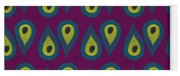 Purple Peackock Print  Yoga Mat