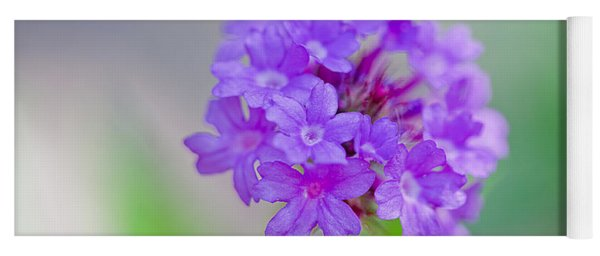 Purple Petals Yoga Mat