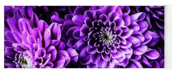 Purple Pompon  Yoga Mat