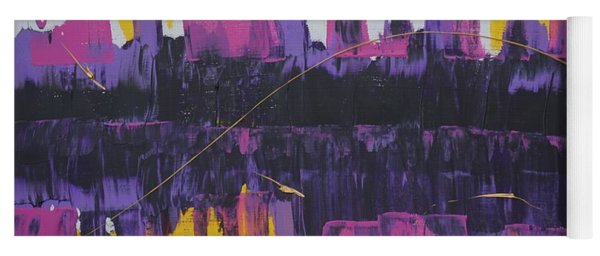 Yoga Mat featuring the painting Purple Reflections by Jimmy Clark
