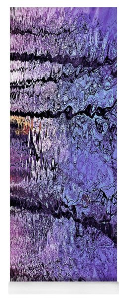 Purple Ripples Yoga Mat