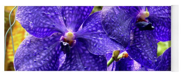 Purple Spotted Orchids Yoga Mat