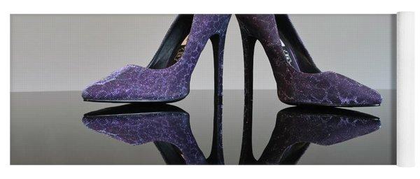 Purple Stiletto Shoes Yoga Mat