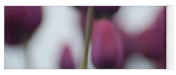 Purple Tulips Abstract Yoga Mat