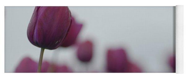 Purple Tulips Yoga Mat