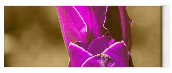 Purple Tulips Sepia Background Yoga Mat