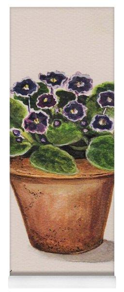 Purple Violets Yoga Mat