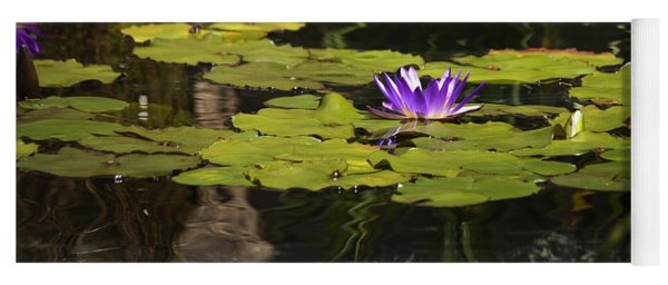 Purple Water Lilly Distortion Yoga Mat