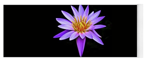 Purple Waterlily With Golden Heart Yoga Mat