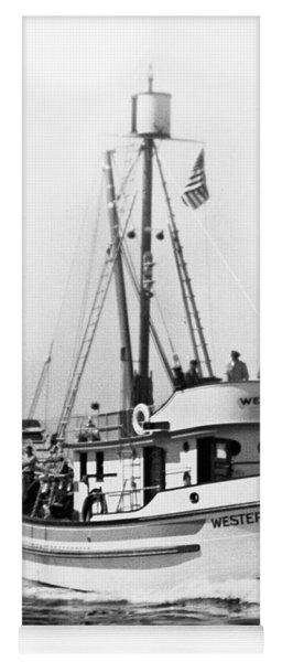 Purse Seiner Western Flyer On Her Sea Trials Washington 1937 Yoga Mat