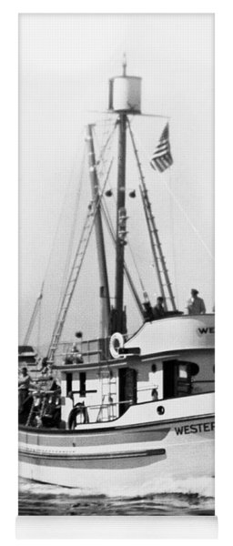 Purse Seiner Western Flyer On Her Sea Trials Washington 1937 Yoga Mat