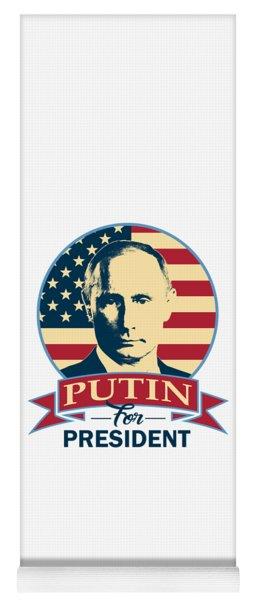 Putin For President American Banner Pop Art Yoga Mat