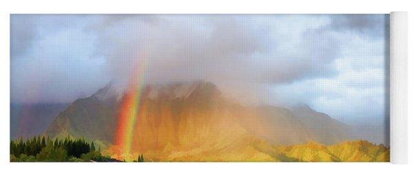 Puu Alii With Rainbow Yoga Mat