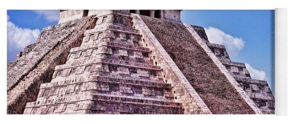 Pyramid Of Kukulcan At Chichen Itza Yoga Mat