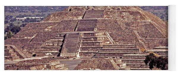 Pyramid Of The Sun - Teotihuacan Yoga Mat