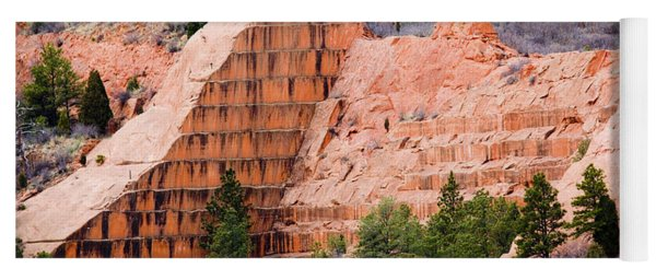 Quarry Closup At Red Rock Canyon Colorado Springs Yoga Mat