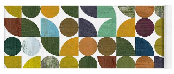 Yoga Mat featuring the digital art Quarter Rounds And Rounds 100 by Michelle Calkins