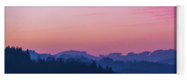 Quartz Sunset Sky Over Blue Ridges Of Mountains Yoga Mat