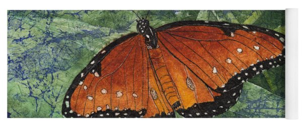 Queen Butterfly Watercolor Batik Yoga Mat