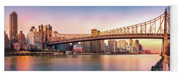 Queensboro Bridge At Sunset Yoga Mat