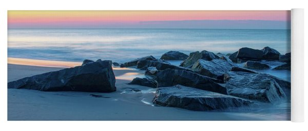 Yoga Mat featuring the photograph Quiet Beach Haven Morning by Kristia Adams
