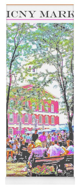 Quincy Market, Boston Massachusetts, Poster Image Yoga Mat