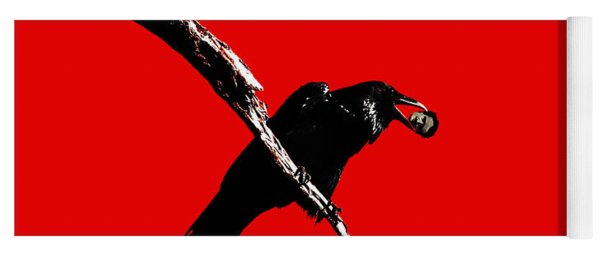 Quoth The Raven Nevermore . Red Yoga Mat