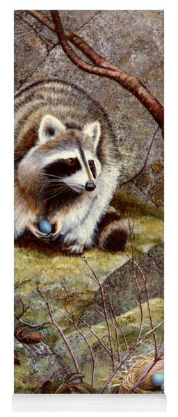 Raccoon Found Treasure  Yoga Mat