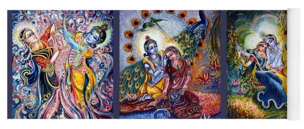 Radha Krishna Cosmic Leela Yoga Mat