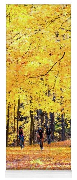 Autumn Glory On The Rail Trail Yoga Mat