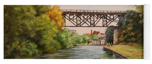 Railroad Bridge Over Erie Canal Yoga Mat