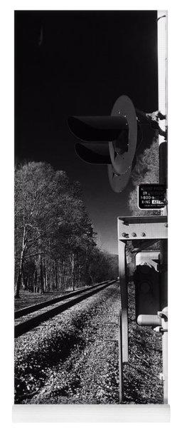Railway 2 Black And White Yoga Mat