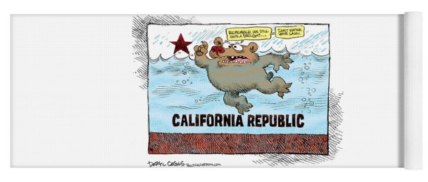 Rain And Drought In California Yoga Mat