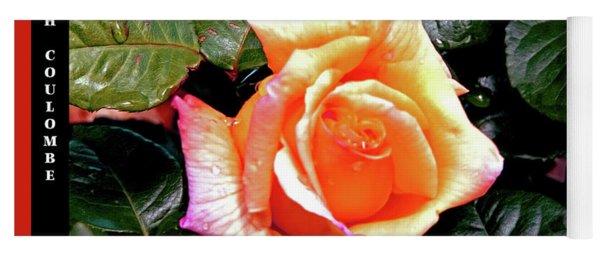 Rain Drops On A Rose Yoga Mat