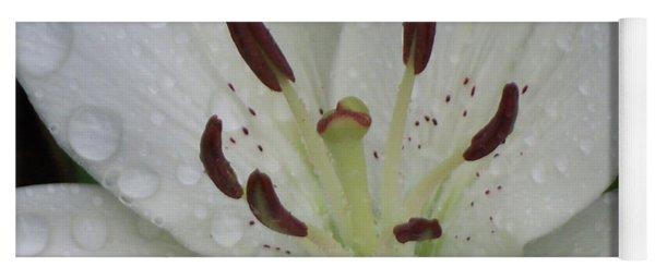 Rain Drops On Lily Yoga Mat