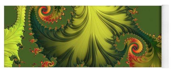 Yoga Mat featuring the digital art Rain Forest by Susan Maxwell Schmidt
