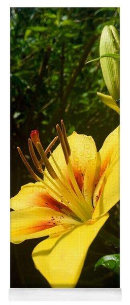 Rain Kissed Tiger Lily Yoga Mat