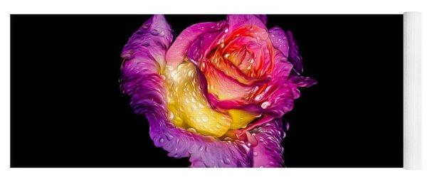 Rain-melted Rose Yoga Mat