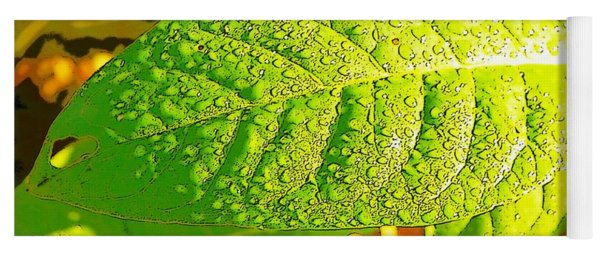 Rain On Leaf Yoga Mat