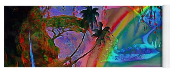 Rainboow Drenched In Layers Yoga Mat