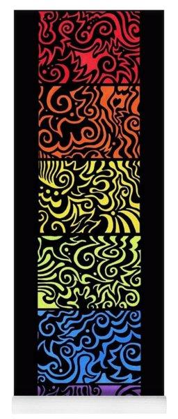 Rainbow Abstract Set Yoga Mat