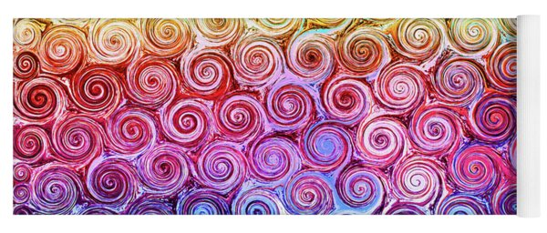 Rainbow Abstract Swirls Yoga Mat