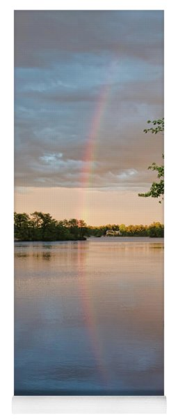 Yoga Mat featuring the photograph Rainbow After The Storm by Beth Sawickie