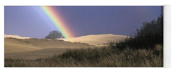 Rainbow And Dunes Yoga Mat